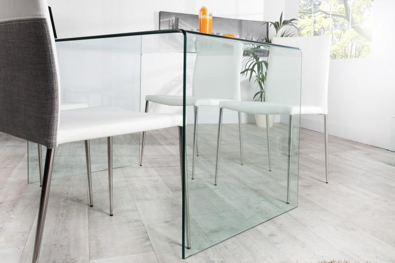 Table bureau verre trempé